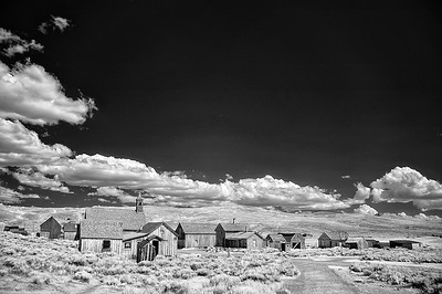 Looking toward Green Street, Bodie State Park, California.