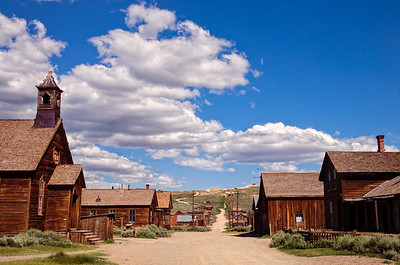 Green Street in Bodie State Park, California.