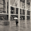 Woman with Umbrella, Lincoln Center