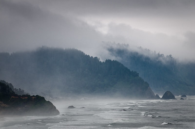 Coast south of Cannon Beach-Oregon