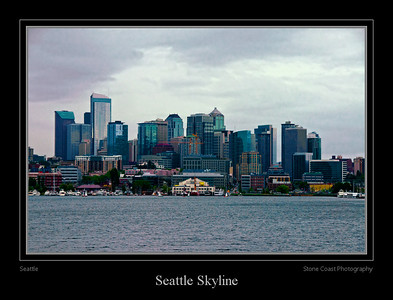 The Seattle skyline seen from Puget Sound.