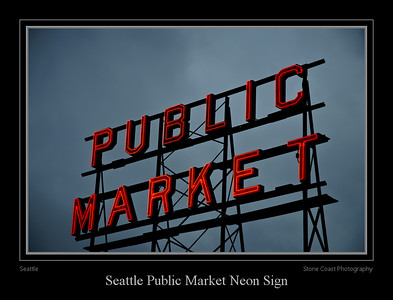 Neon sign at the Seattle Public Market
