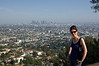 We hiked up the Griffith observatory trail. It affords nice views of the city of Los Angles.