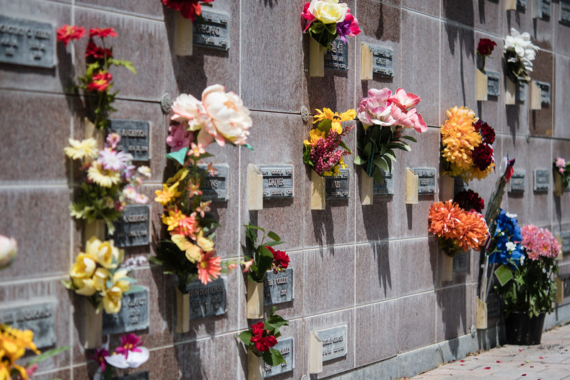 Memorial day death wall flowers.