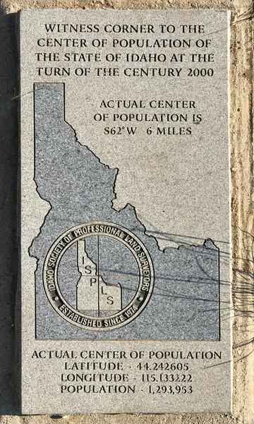 Idaho Society of Professional Land Surveyors plaque.