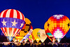 Spirit of Boise balloon festival. Nightglow in Ann Morrison Park.