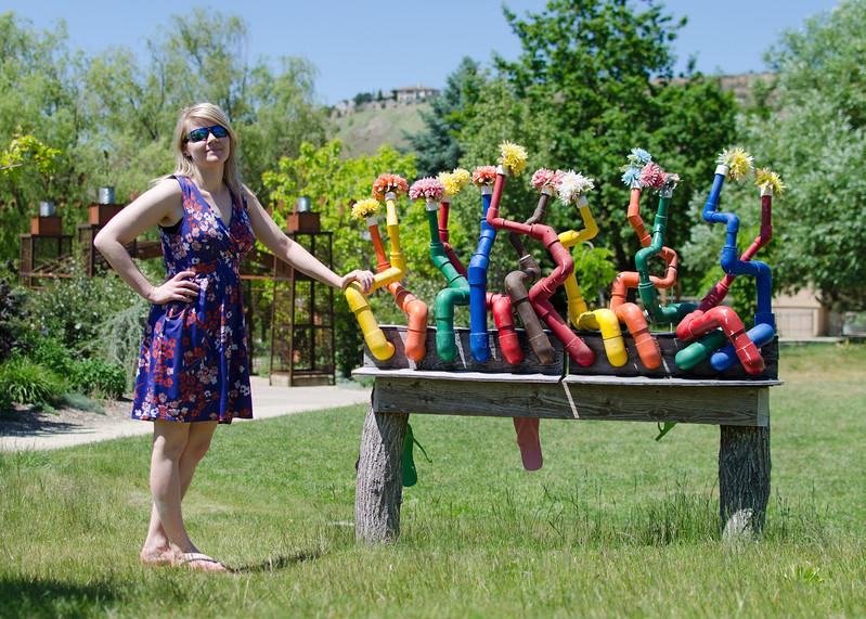 Helen in the Boise Botanical Garden.
