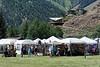 Ketchum art festival tents.