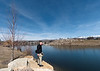 Me beside one of the ponds of Esther Simplot Park on a glorious mid-March Sunday afternoon.