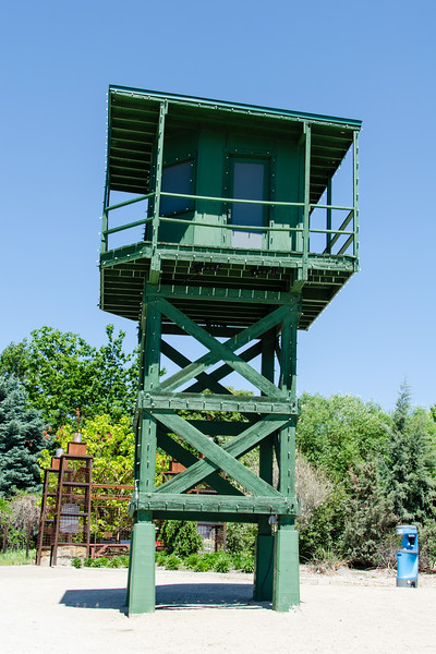 The grounds of the Boise Botanical Garden used to be the Idaho prison garden. The inmates grew a lot of their food on these grounds. To keep them from running off guard towers were erected around the property. The towers still exist but they're no longer staffed. Plants do not flee!