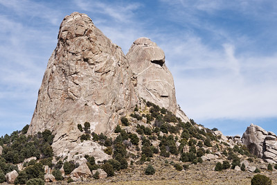 The Twin Sisters in the City of Rocks.