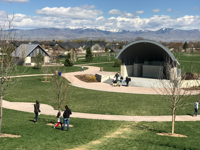 Kleiner Park amphitheater.  Kleiner Park is relatively new and parks, unlike many things, improve with age. In ten or more years this rather nice park will become a little suburban oasis.