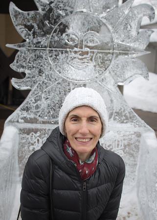 Mali on an ice throne.