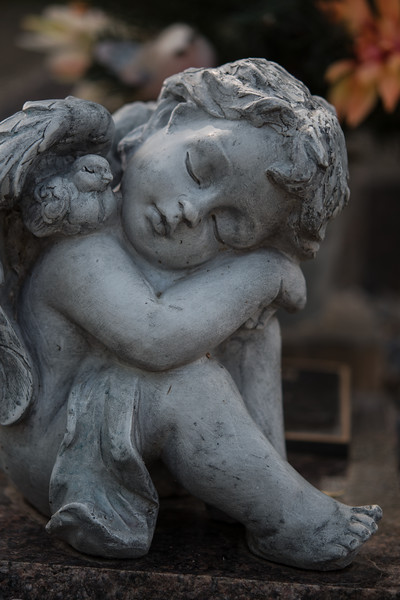 Sleeping angel motifs are common in cemeteries. If we are going to harbor fantasies of angels looking after our alleged souls is it too damn much to ask these divine beings to stay awake on the job.