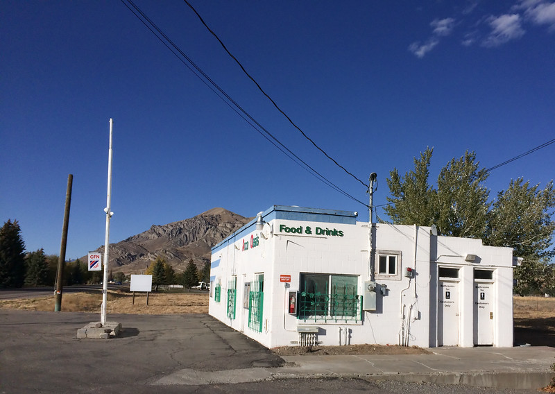 The late afternoon light on this white Arco Idaho gas station got my attention.