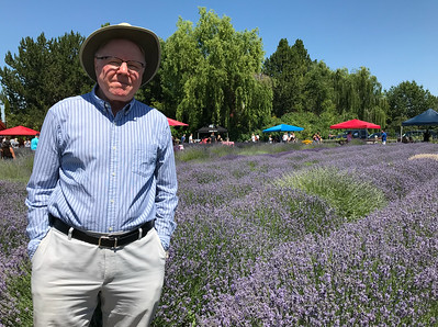 Mali wanted to check out a lavender festival in Eagle today so we drove over. The lavender flowers were fine but the ten dollar walk around fee annoyed Mali.