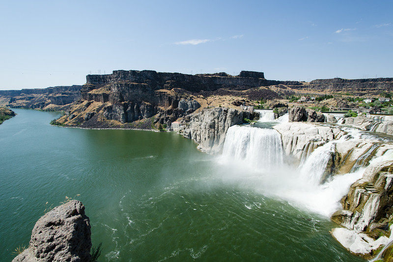 Shoshone Falls. Shoshone is a nice waterfall but I find the deep volcanic river canyon it's nestled in even nicer.
