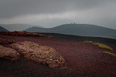 Reddish volcanic cinders atop the Inferno Cone in Craters of the Moon. It's a rare image that comes close to how I felt when framing a scene. This is one of them.