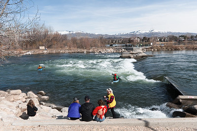 The Boise whitewater park is a popular spot on the greenbelt.