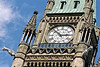 The Peace Tower clock on parliament hill in Ottawa Canada.