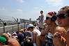 It was the hottest Indy 500 ever. Fans were exposing more skin than usual. I saw a lot of sunburned faces and backs.