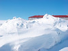 Snow drifts by Fort Henry in Kingston Ontario.