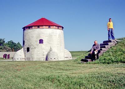 Me and Jacob posing at Point Fredrick Kingston Ontario in 2004.