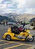 Numerous baby booming bikers were rolling on the Beartooth Highway with slick tricked out bikes. The couple riding this beauty were easily in their late sixties. You have to admire their style.