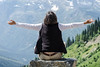 Mali meditating on Going to the Sun Road.
