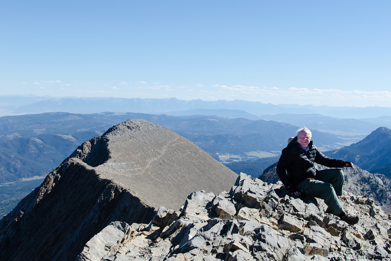 Me on the top of Sacagawea Peak. I've discovered that mountains without cable cars and roads are much harder to climb.