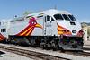 Rail Runner locomotive. I've always loved locomotives. The red bird logo is New Mexico's state bird: the roadrunner.
