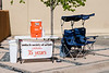 Most weekends when the weather is nice local Santa Fe artists set up stalls in a downtown parking lot and hawk their masterpieces. A few paintings and bronze sculptures caught my eye. As usual the things I liked were expensive. I have an eye for quality and a pocketbook for poverty. It's a problem!