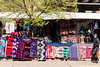 """Fabrics on the street. The lady on the far right is giving me that """"are you looking at me"""" look."""