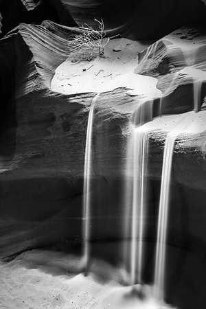 Cascading sand in Upper Antelope Canyon, near Page, AZ