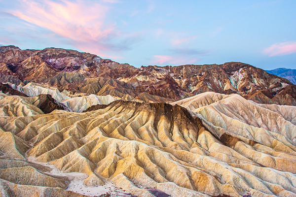 Zabriski Point at sunrise, Death Valley, California