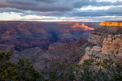 Grand Canyon--nearing sunset