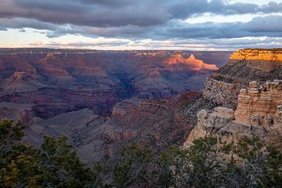 Grand Canyon--nearing sunset