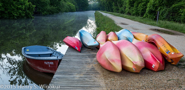 Canoes along the Canal