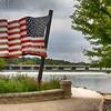 Walton Island Park on Fox River in Elgin, Illinois