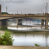 Fox River in downtown of Elgin, Illinois
