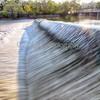 Dam on Fox River. Elgin, Illinois