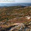 View of Mt Desert Island and Atlantic coast, Maine.