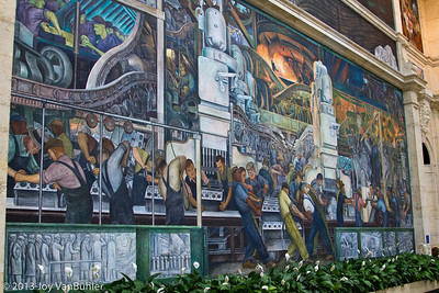 Diego Rivera mural at the DIA