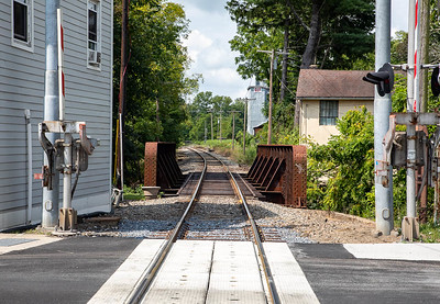 The railroad tracks coursing through the quaint little town of Warwick.  ©2019 Henry S. Winokur