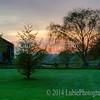 Sunset at Old Bedford Village. Bedford, PA