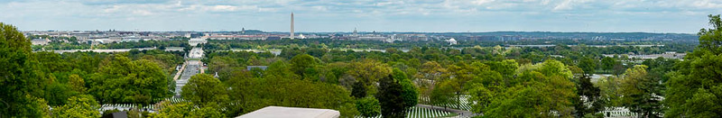 """@NationalParksAtNight DC workshop.  This panoramic view of DC from right in front of Arlington House (aka """"the Custis-Lee Mansion"""") at the top of Arlington National Cemetery.  April 25, 2021  ©2021 Henry S. Winokur"""