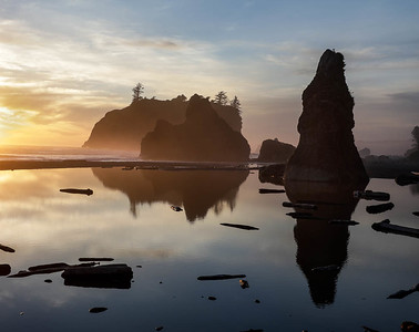 Sunset, Ruby Beach