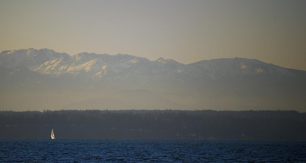 Small Sailboat, Big Mountains