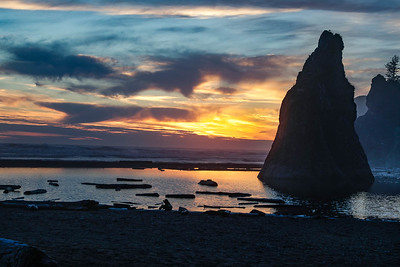 Sunset on Ruby Beach