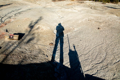 People always complain that there are no pics of me.  Here I am standing on the board walk  *photographing* in the Norris Geyser Basin. No more complaining!   ©2019 Henry S. Winokur